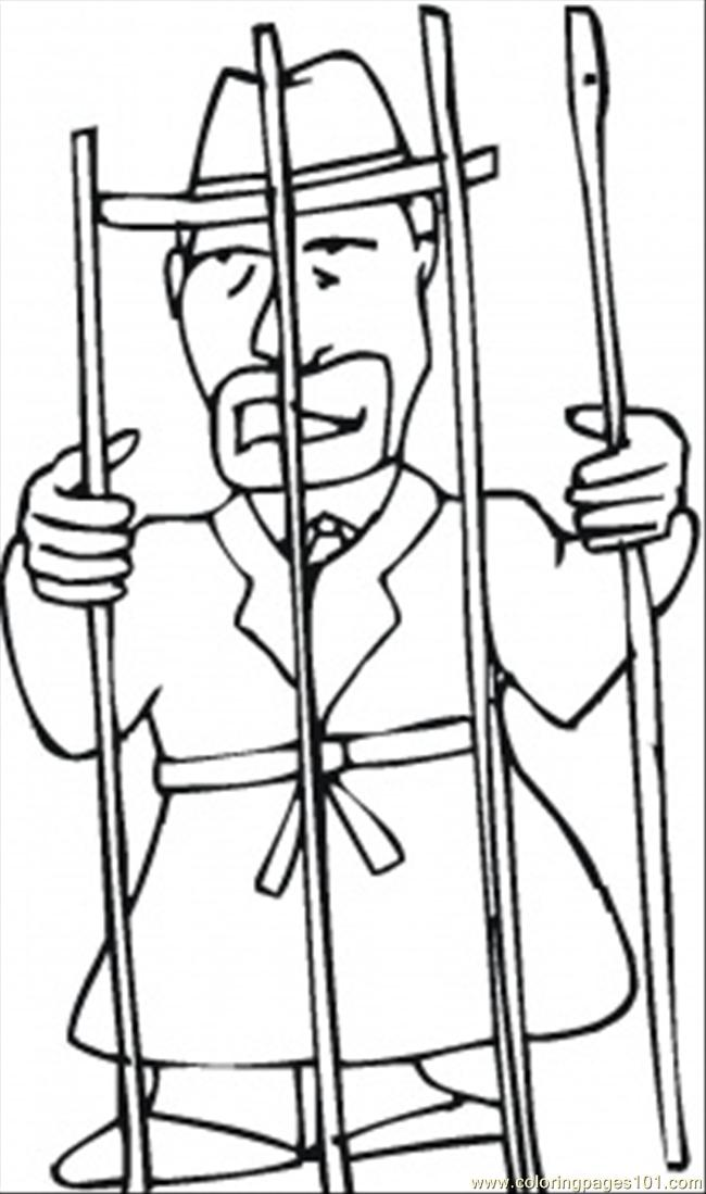 650x1099 In The Jail Coloring Page