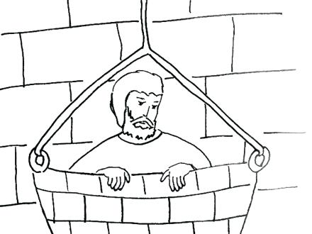 440x330 And Jail Coloring Page Apostle Bible Coloring Pages Paul
