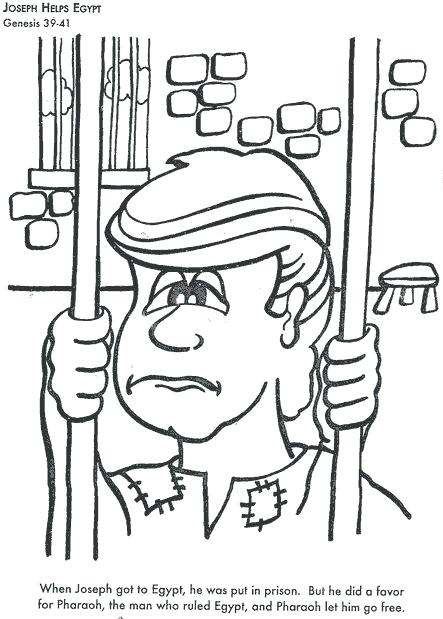 443x619 Joseph In Jail Coloring Page Educational Coloring Pages