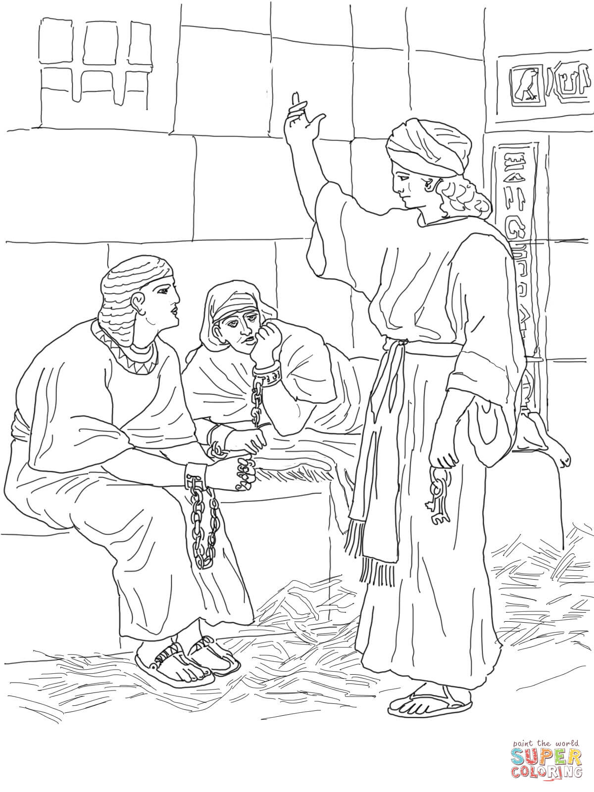 1200x1600 Joseph In Jail Coloring Page Joseph In Prison Coloring Page