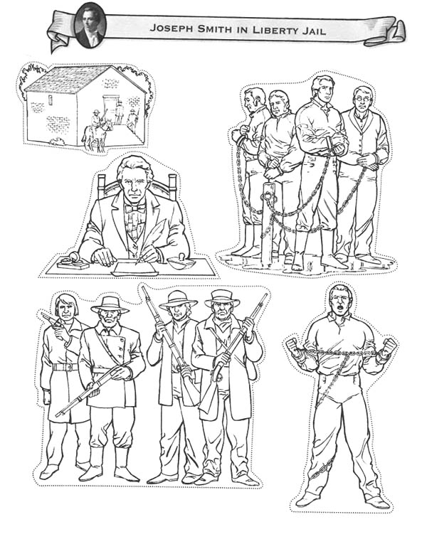 600x772 Joseph Smith In Liberty Jail Coloring Page