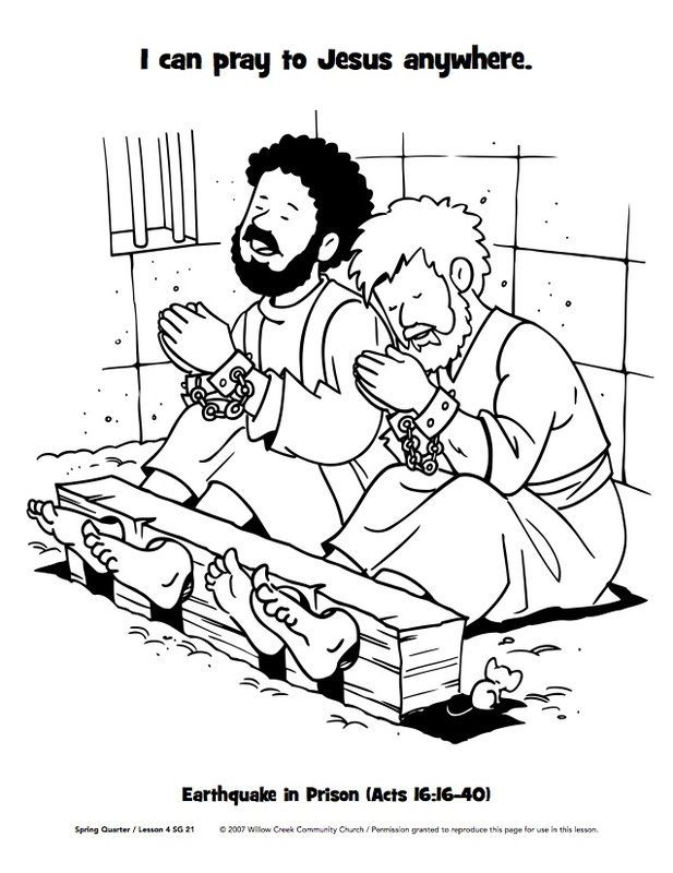 617x800 Paul And Silas In Jail Coloring Page Apostle Paul
