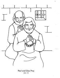 231x300 Paul And Silas In Jail Coloring Page Free Download
