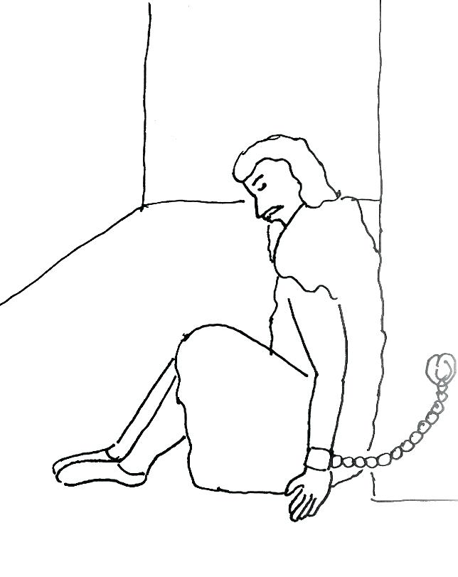 644x811 Bible Coloring Pages Paul And Timothy In Prison Page Free Download