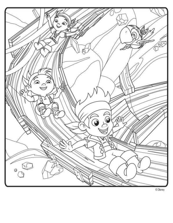 598x773 Kids N Coloring Pages Of Jake And The Never Land Pirates