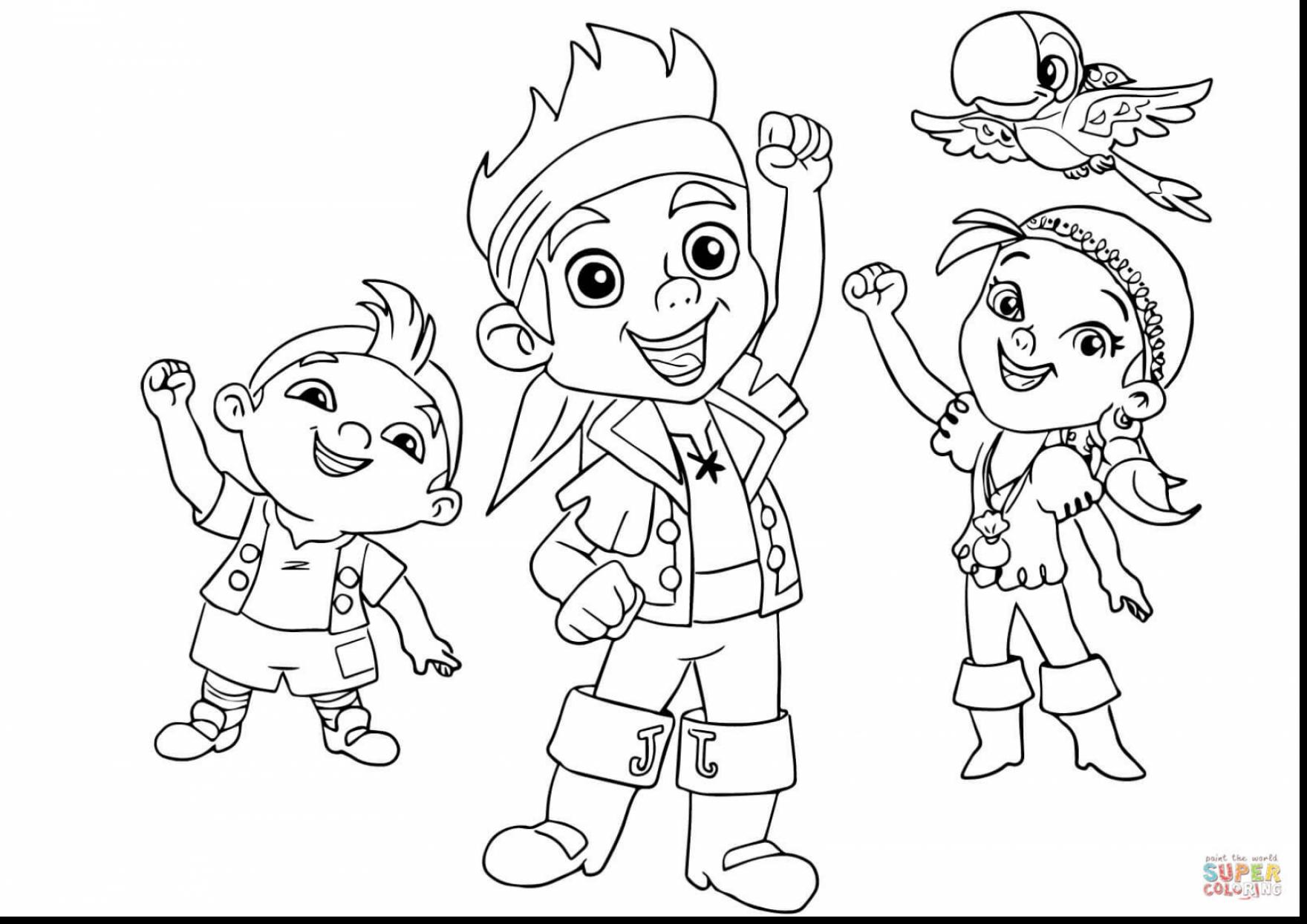1760x1244 Jake And The Never Land Pirates Coloring Pages Excellent With Jake