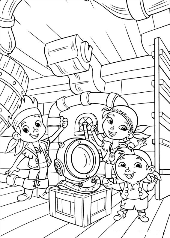 567x794 Jake And The Neverland Pirates Coloring Pages