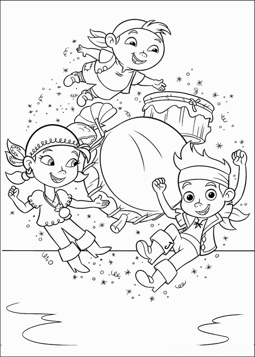 857x1200 Jake And The Neverland Pirates Coloring Pages Montenegroplaze Me