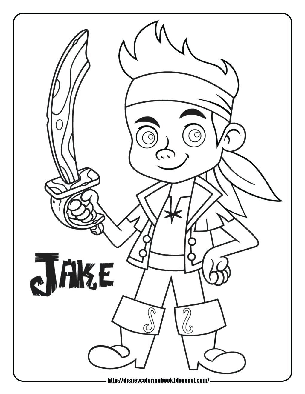 1020x1320 Jake And The Neverland Pirates Coloring Pages Page Fun Jake