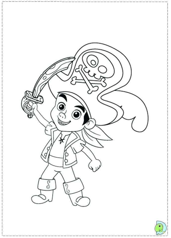 691x960 Jake And The Neverland Pirates Coloring Pages Free Marvellous