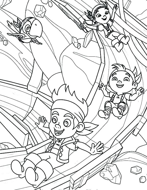 600x776 Jake And The Neverland Pirates Coloring Pages Free New Pirates