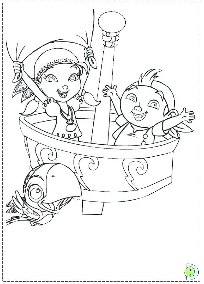 691x960 Jake And Neverland Pirates Coloring Pages To Print
