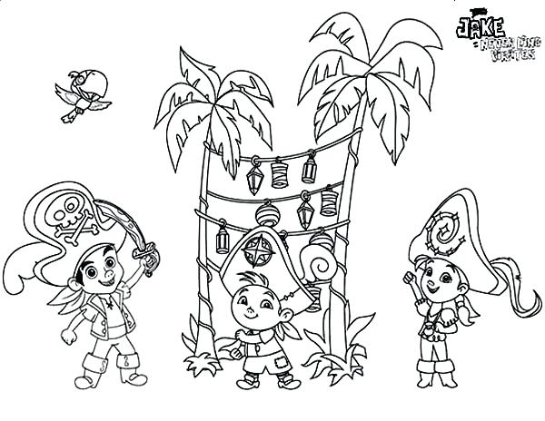 600x464 Jake And The Neverland Pirates Coloring Pages To Print Printable
