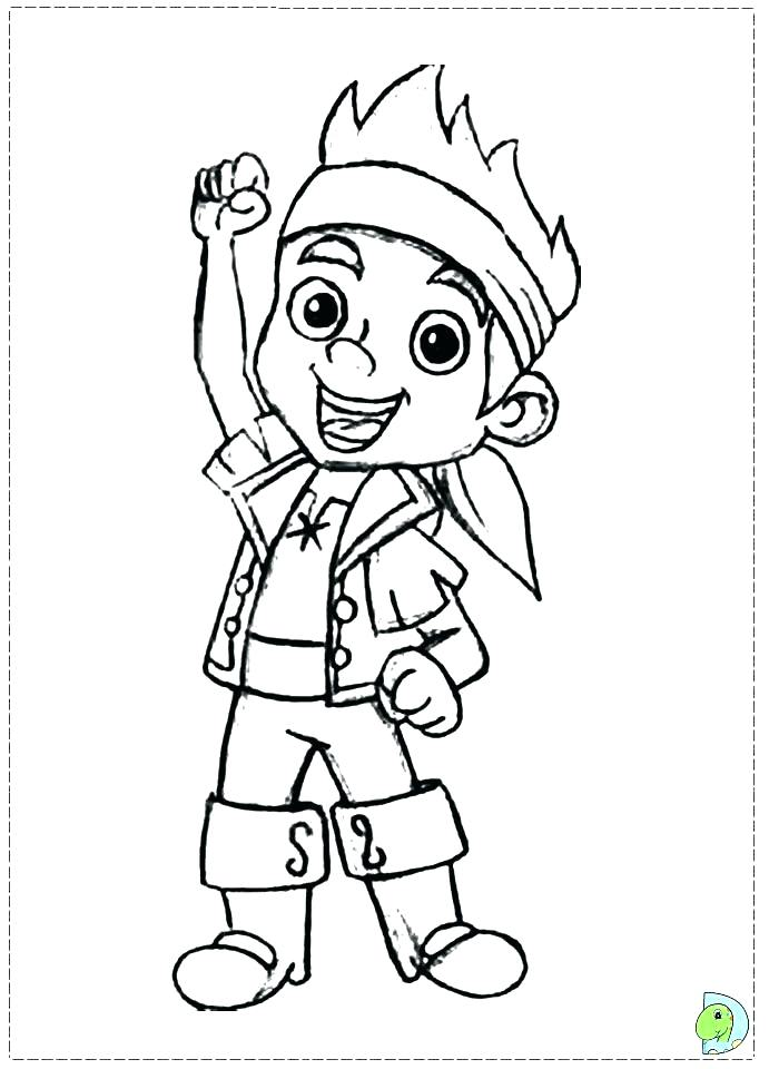691x960 Jake Neverland Pirates Coloring Pages And The Never Land Pirates
