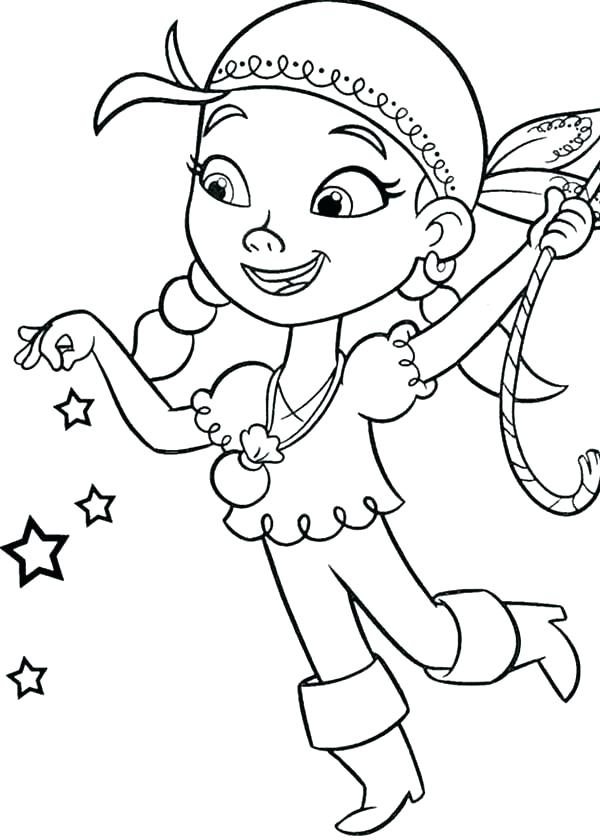 600x840 Jake Neverland Pirates Para Colorear And The Pirates Coloring