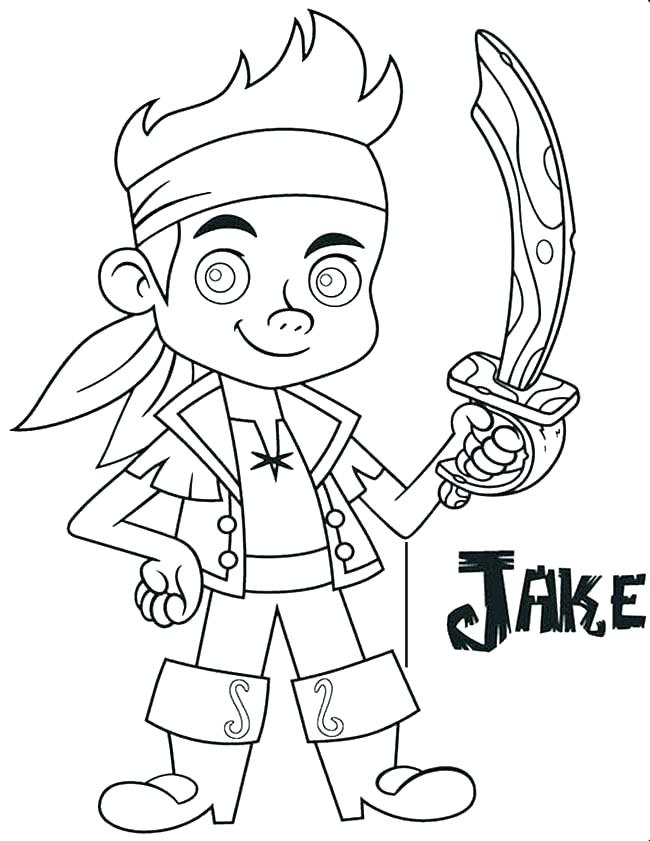 650x841 Jake And The Neverland Pirates Color Pages