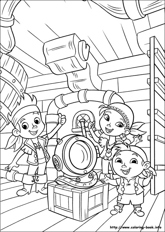 567x794 And The Never Land Pirates Coloring Picture