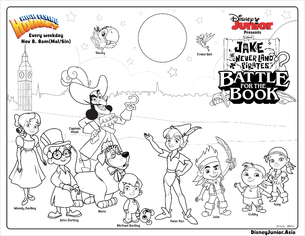 1047x809 Jake And The Never Land Pirates Coloring Pages Battle For Book