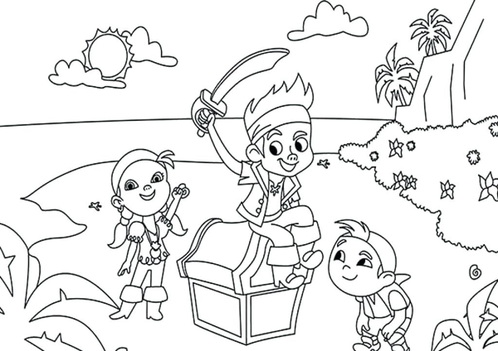 1024x723 Jack The Neverland Pirates Coloring Pages Pages Coloring