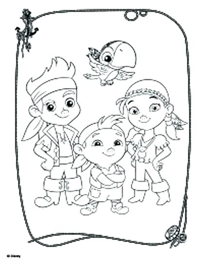 417x540 Jake And The Neverland Pirates Coloring Pages And The Coloring