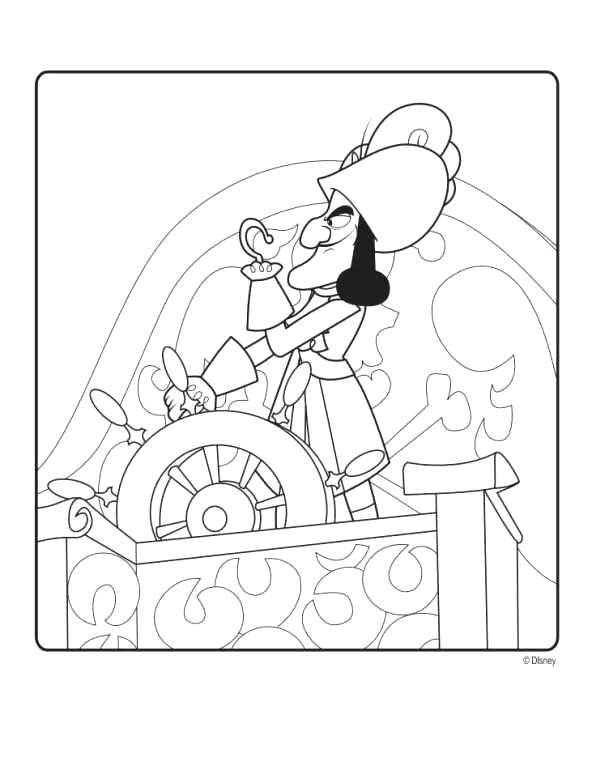 592x770 Jake And The Neverland Pirates Coloring Pages And The Never Land