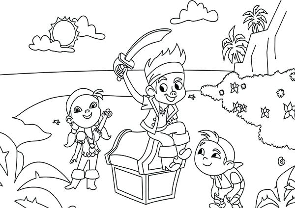 600x424 Jake The Neverland Pirates Coloring Pages The Pirates