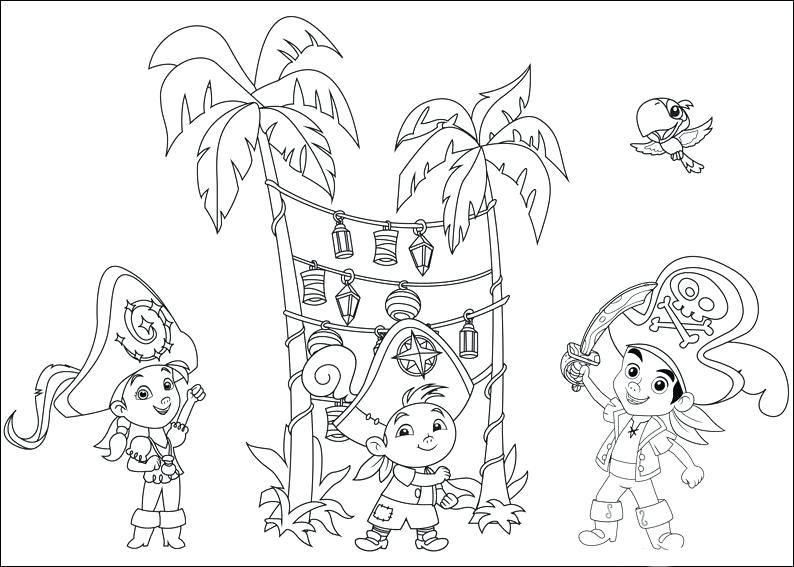 794x567 Jake And The Pirates Coloring Pages And The Never Land Pirates