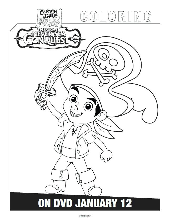 646x836 Jake Coloring Page Disney Coloring Pages Jake And The Neverland