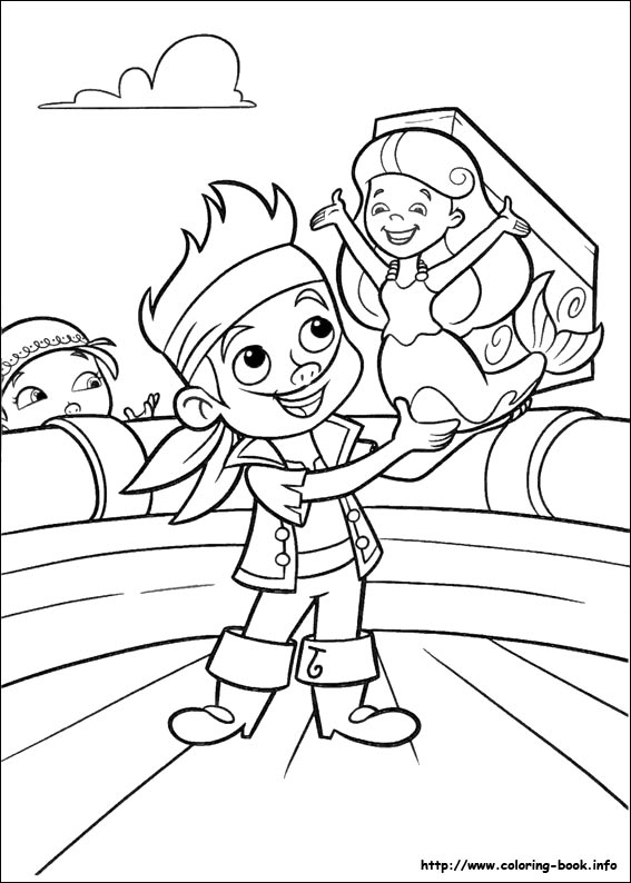 567x794 Jake Coloring Pages And The Never Land Pirates Within Prepare