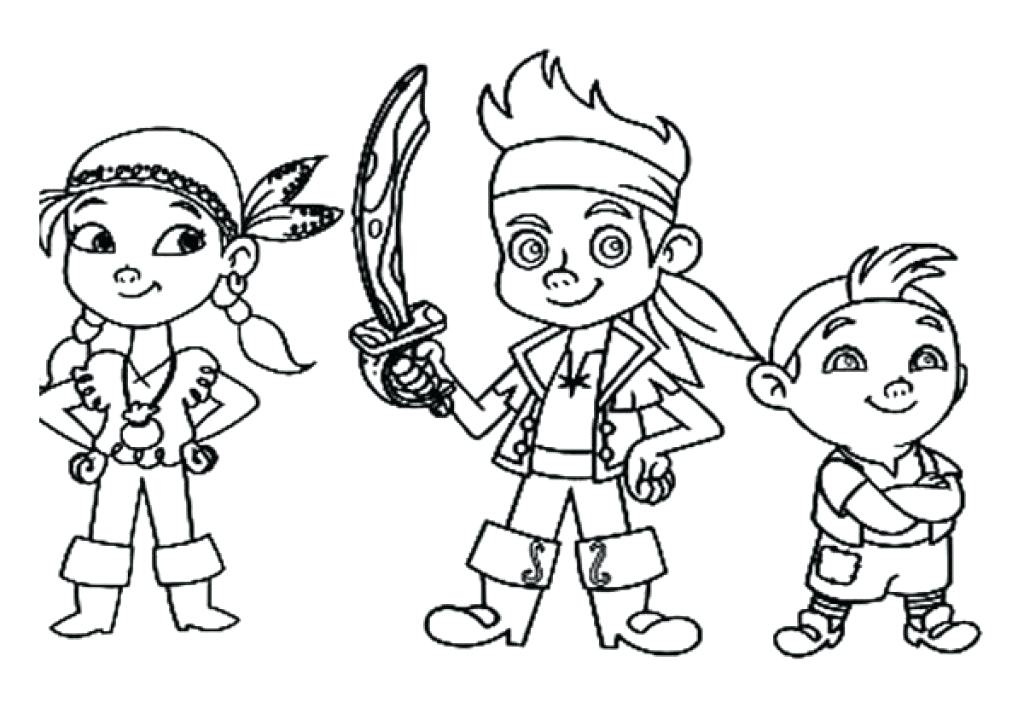 1024x708 Jake Neverland Pirates Coloring Pages And The Pirates Coloring