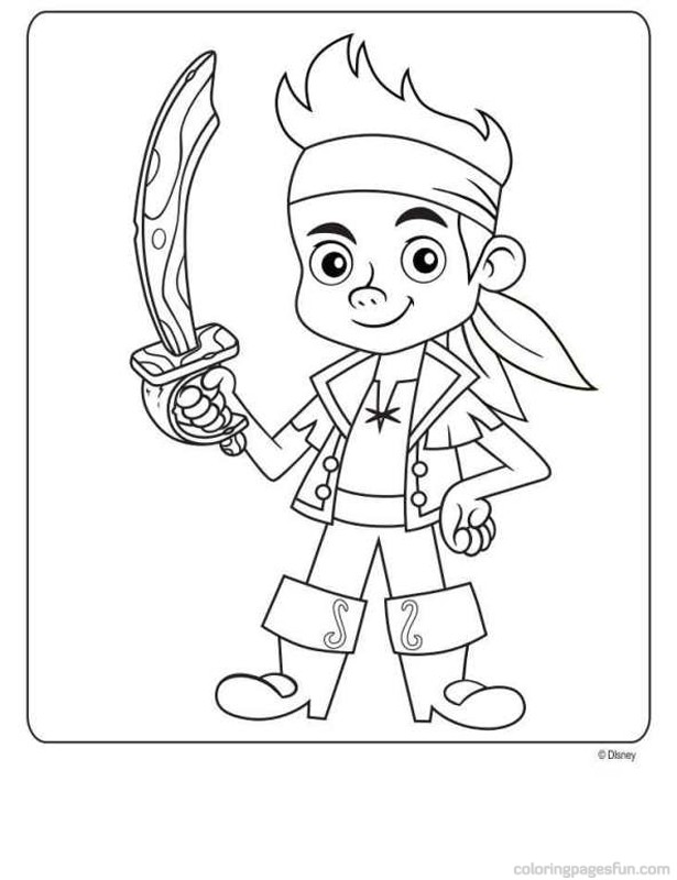 615x800 Jake And The Never Land Pirates Free Printable Coloring Pages