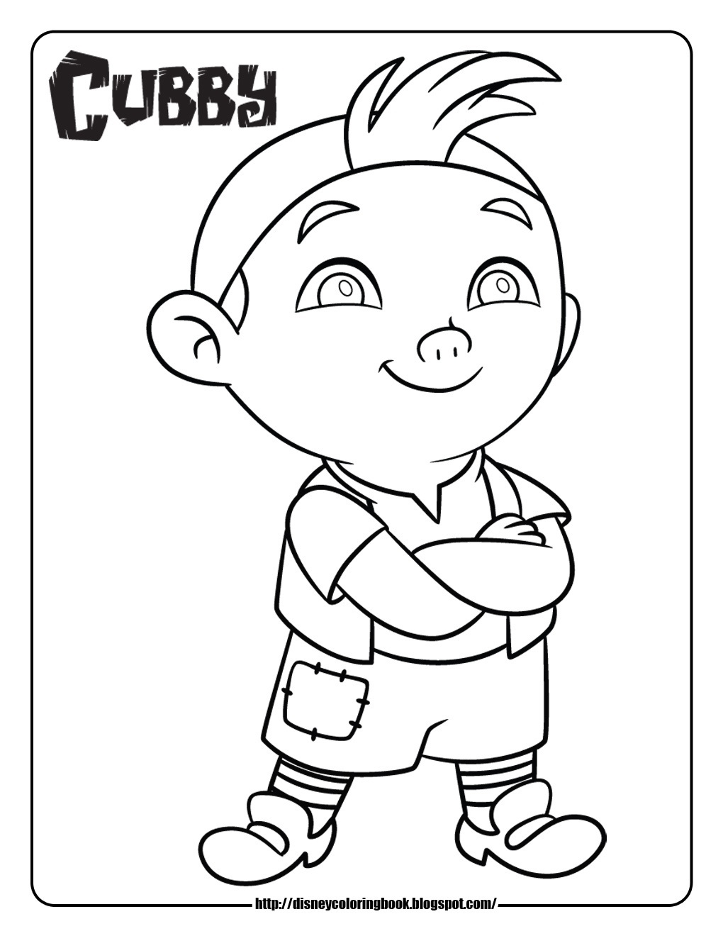 1020x1320 Printable Jake And The Neverland Pirates Coloring Pages