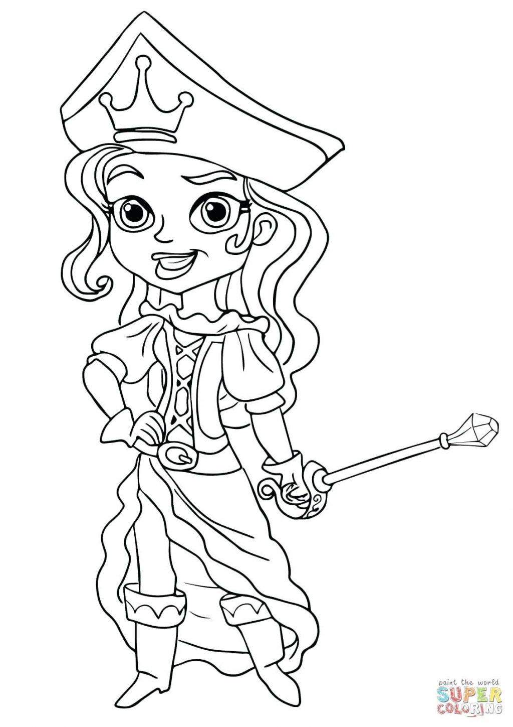 1024x1449 Coloring Pages Jake And The Neverland Pirates Coloring Page