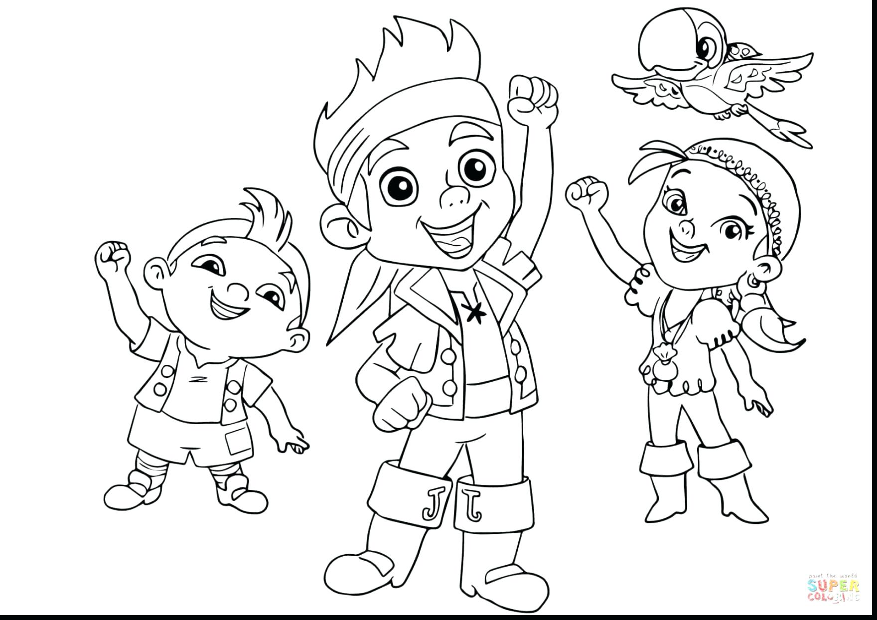 1760x1244 Jake Neverland Pirates Coloring Pages And The Halloween Fantastic