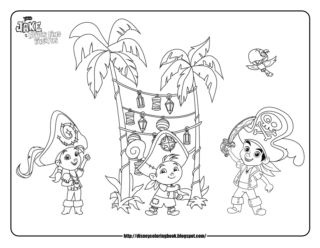 1320x1020 Full Jake And The Neverland Pirates Coloring P