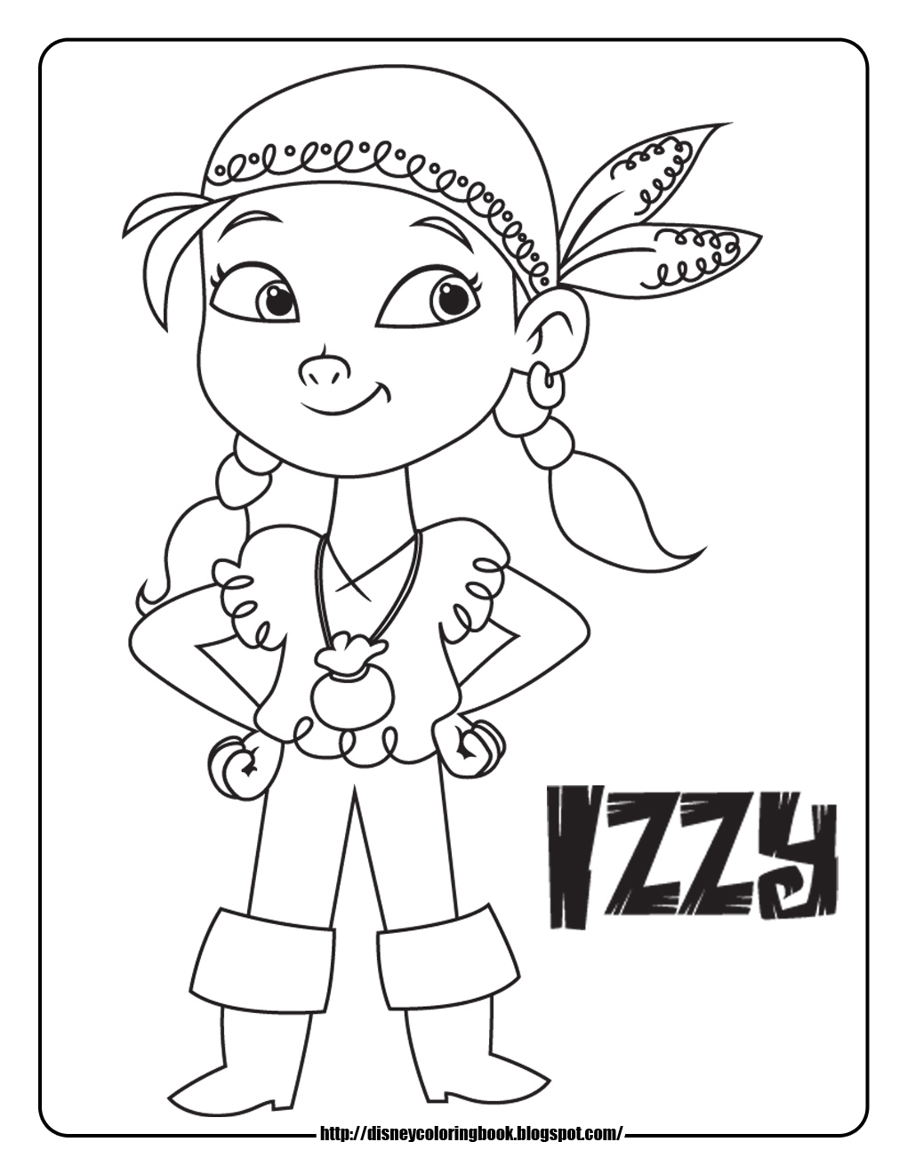 1020x1320 Jake The Pirate Coloring Pages