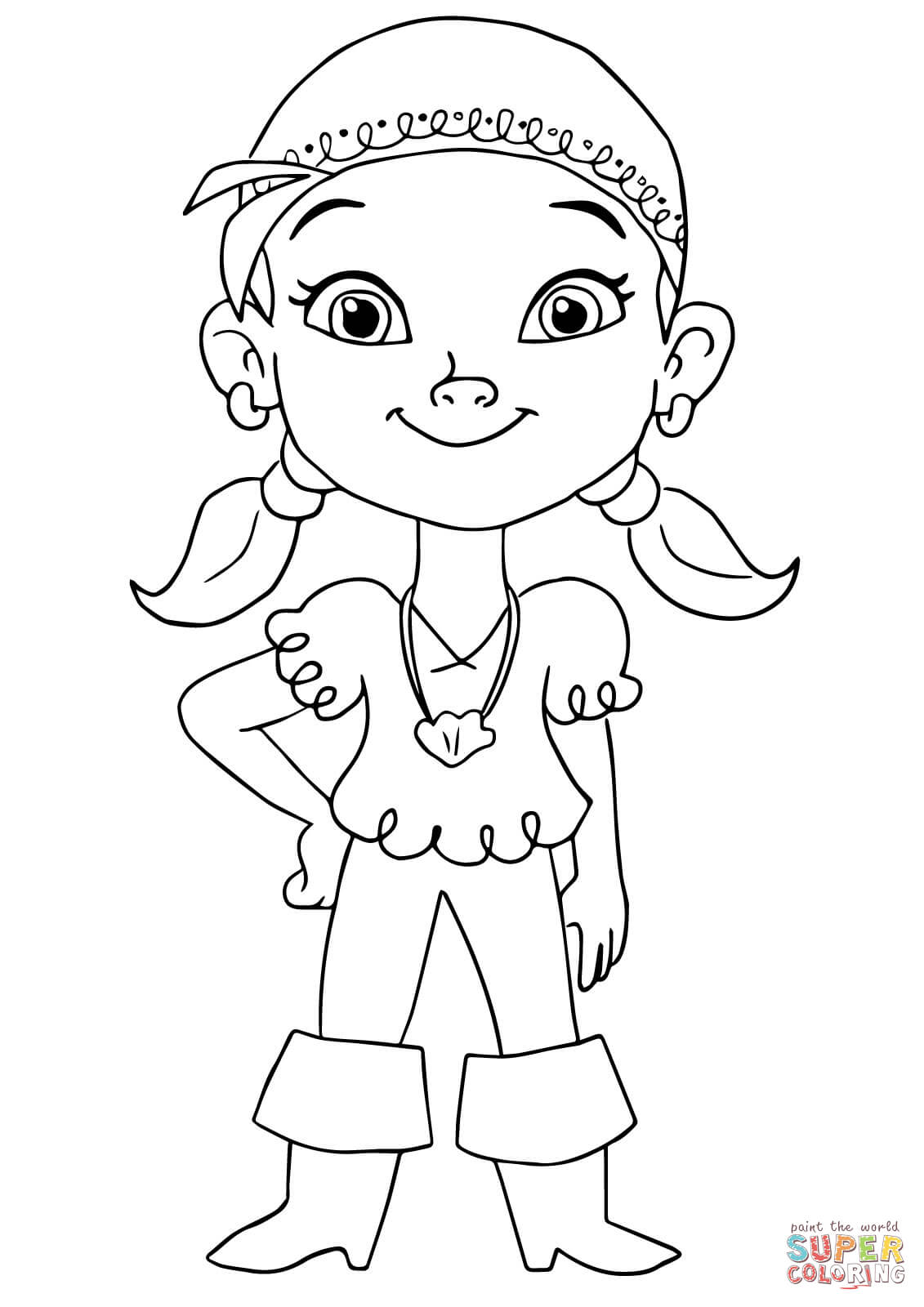 1131x1600 Izzy Pirate Coloring Page Free Printable Coloring Pages Jake