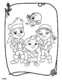 200x259 Jake And The Neverland Pirates Coloring Pages To Print
