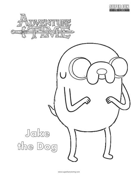 464x600 Jake The Dog Adventure Time Coloring Page