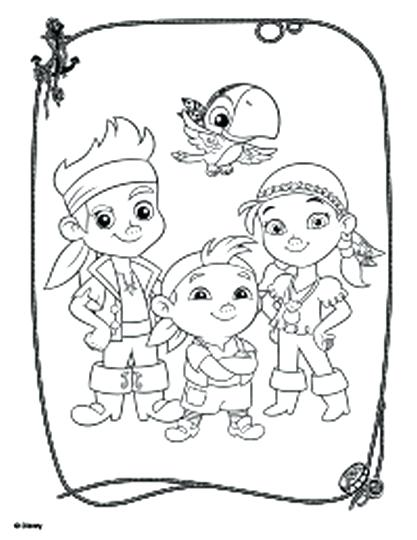 417x540 Jake Neverland Pirates Coloring Pages And The Pirates Coloring