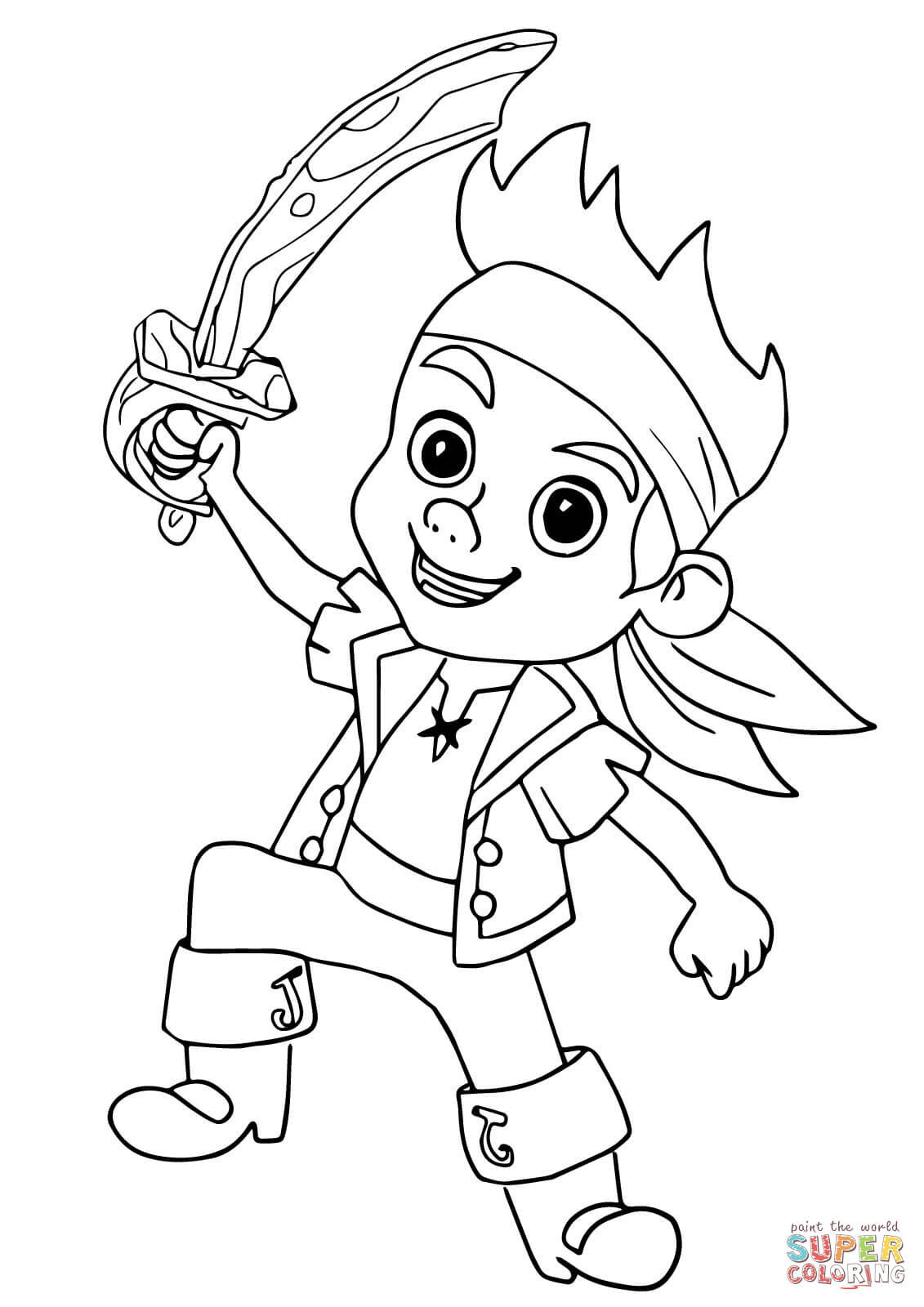 1131x1600 Jake And The Neverland Pirates Coloring Pages For Children