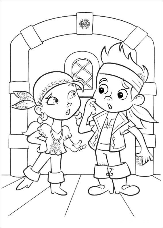 Jake The Pirate Coloring Pages At Getdrawings Com Free For