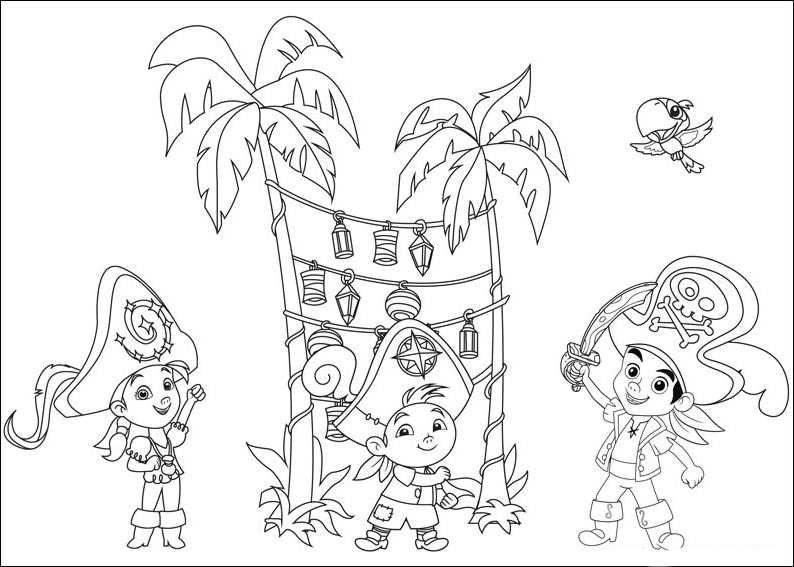 794x567 Jake And The Never Land Pirates Coloring Pages