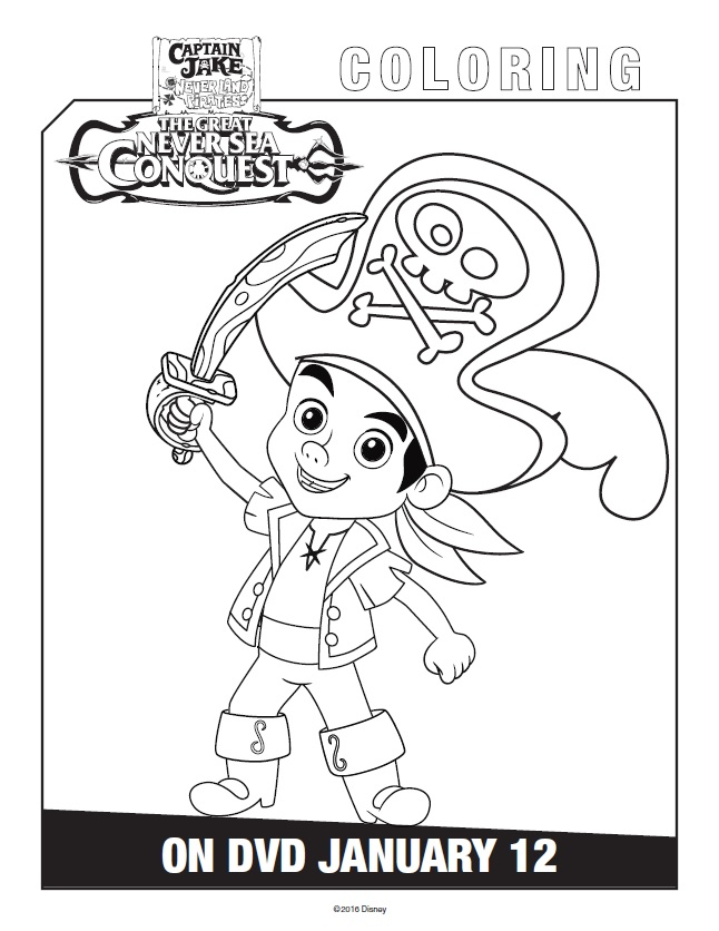 646x836 Free Printable Jake And The Never Land Pirates Coloring Pages
