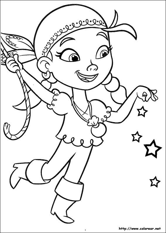 567x794 Jake And The Neverland Pirates Coloring Pages Dibujos De Jake Y