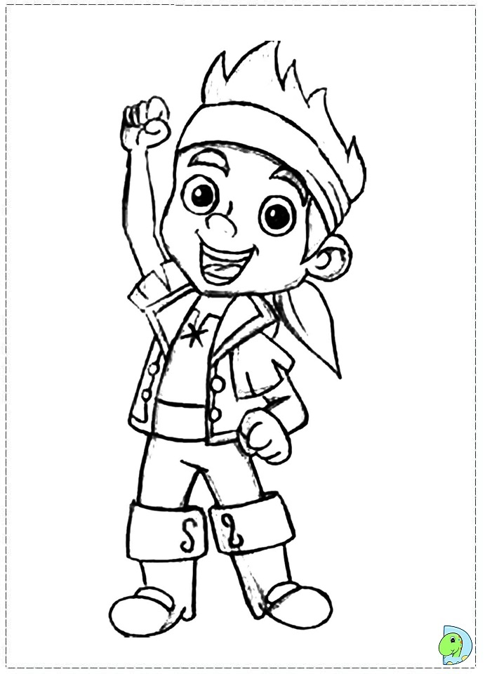 691x960 Jake And The Neverland Pirates Coloring Pages