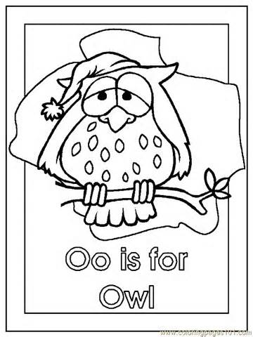 360x480 Coloring Pages Owl Coloring Page