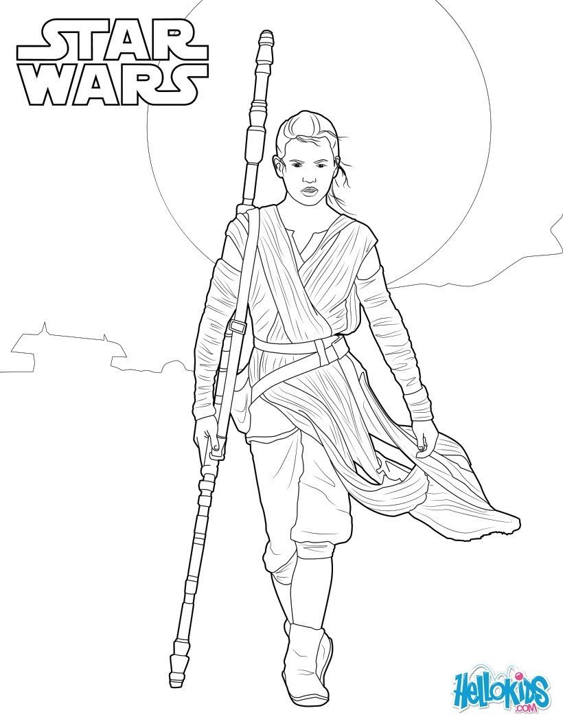 820x1060 Rey Coloring Pages Star Wars To Print Coloring For Kids