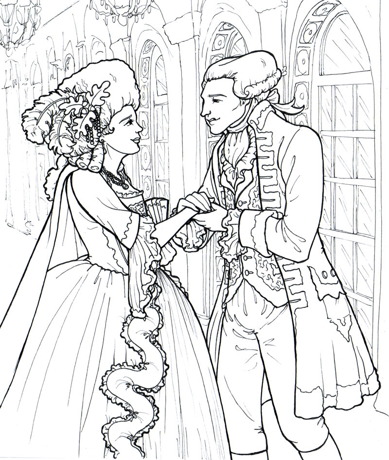800x946 The Marquise And Marquis De Lafayette