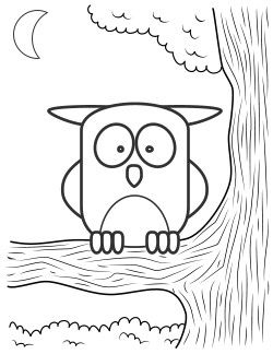 250x324 Adorable Owl Coloring Page! Keep On Hand For My Origami Owl